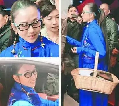 太文艺 杨丽萍提菜篮子出席法拉利车展高清图片